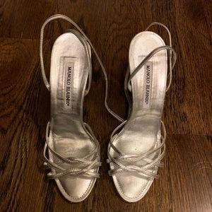 Manolo Blahnik Silver Sandals